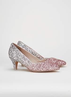 c1b321ae874 Silver Kitten Heel Court Shoes - ShopStyle UK