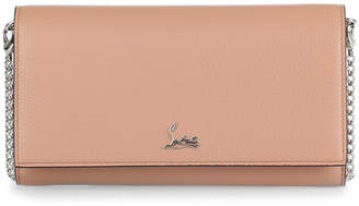 Christian Louboutin Boudoir beige leather chain wallet