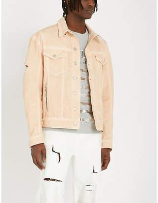 Balmain Ripped denim jacket