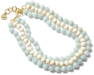 Nest Jade & Bone Multistrand Necklace