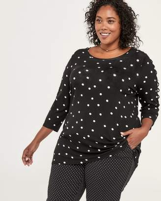 Penningtons 3/4 Sleeve Printed Tunic with Lace-Up - In Every Story