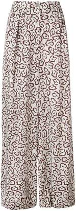 Christian Wijnants floral printed wide-leg trousers