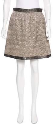 Anna Sui Pleated Metallic Skirt