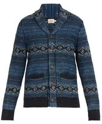 Faherty Indigo Shore Cotton Blend Cardigan - Mens - Blue Multi