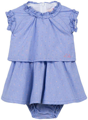 Lili Gaufrette Lally Printed Ruffle Dress