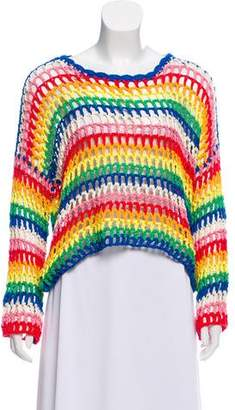 Mira Mikati Open-Knit Long Sleeve Sweater w/ Tags