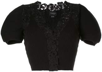 Giambattista Valli short-sleeve fitted cardigan