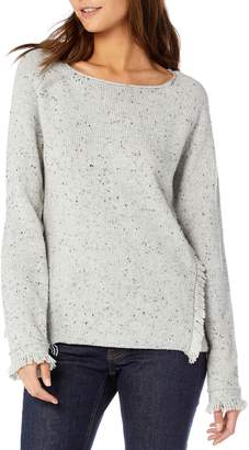 Michael Stars Confetti Fringe Detail Bateau Neck Sweater