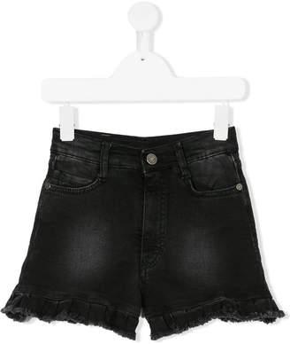 Douuod Kids ruffle trim denim shorts