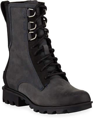 Sorel Phoenix Waterproof Leather Combat Boots