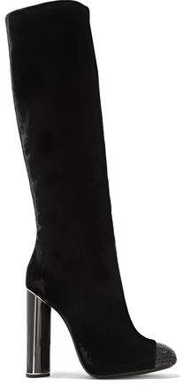 Tom Ford Bead-Embellished Velvet Over-The-Knee Boots