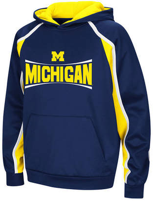 Colosseum Michigan Wolverines Poly Pullover Hoodie, Big Boys (8-20)