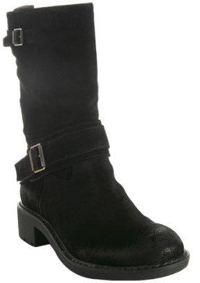 Ash black suede 'Zed' buckle boots