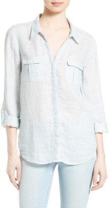 Women's Joie Booker Linen Shirt $198 thestylecure.com