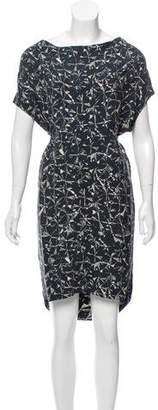 Megan Park Printed Silk Dress