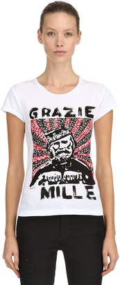 Grazie Mille Printed Cotton T-Shirt