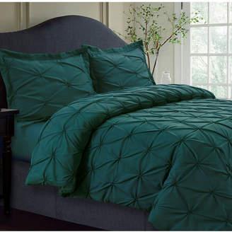 Tribeca Living Sydney Microfiber Oversized King Duvet Cover Set Bedding