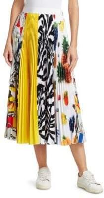 MSGM Multi-Pattern Pleat Skirt