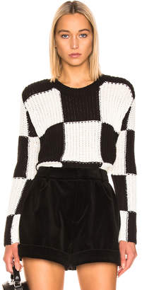 A.L.C. Checkerboard Sweater in Black & White | FWRD