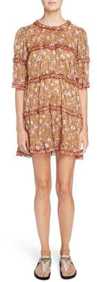 Etoile Isabel Marant Maiwenn Floral Print Cotton Dress