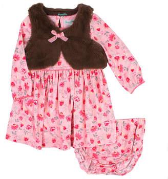 Nanette Baby Long Sleeve Vest Dress Set - Baby Girls