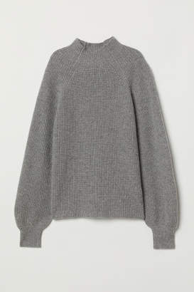 H&M Rib-knit Cashmere Sweater - Gray