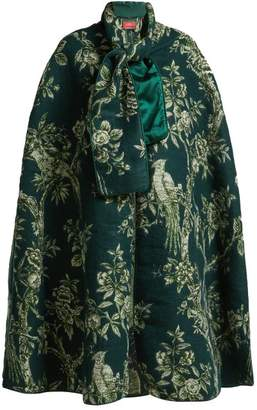 F.R.S – For Restless Sleepers F.r.s For Restless Sleepers - Kore Ramage Jacquard Cape - Womens - Green Print