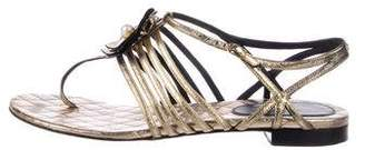 Chanel CC Camelia Sandals