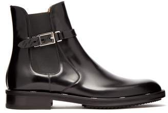 Fendi Buckled leather chelsea boots