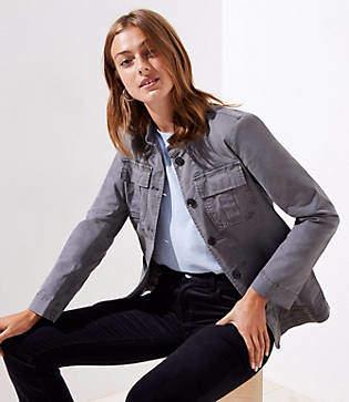 LOFT Stretch Cotton Utility Jacket