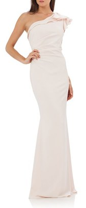 Women's Carmen Marc Valvo Infusion One-Shoulder Gown $328 thestylecure.com