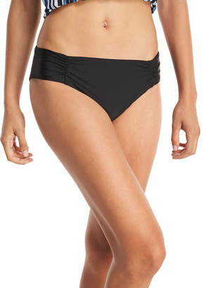 Athena Hey There Shirred-Side Hipster Swim Bikini Bottom, Plus Size