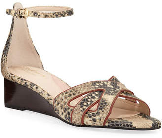 Cole Haan Hanna Grand Snake-Print Wedge Sandals