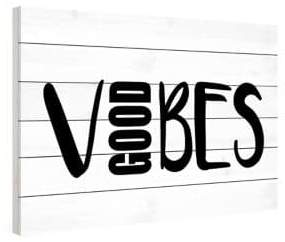 Marmont Hill Good Vibes Painting Print on Wood