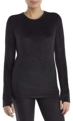 Cuddl Duds ClimateRight by Women's Stretch Fleece Warm Underwear Long sleeve Top