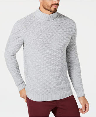 Tasso Elba Men's Cable-Knit Turtleneck Sweater
