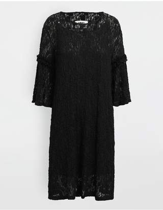 MM6 MAISON MARGIELA Lace-Trimmed Midi Dress