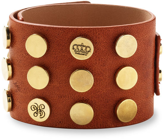 Juicy Couture Rivet Wide Leather Cuff