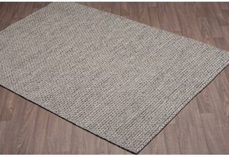 Bungalow Rose Ralls Reversible Hand-Woven Gray Wool Area Rug