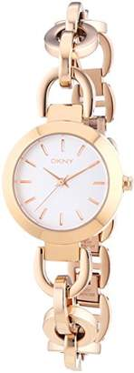 DKNY DNKY5) Women's Quartz Watch with Rose Gold Dial Analogue Display and Rose Gold Stainless Steel Bracelet NY2135