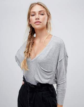 Free People Golden Gate long sleeved t-shirt
