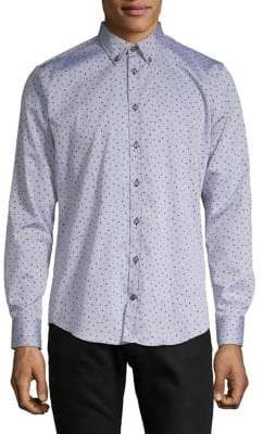 Bugatti Woven Printed Button-Down Shirt