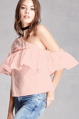 FOREVER 21+ One-Shoulder Ruffle Top $35 thestylecure.com