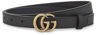 Gucci GG buckle slim leather belt