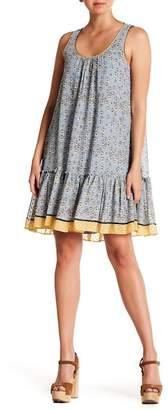 Max Studio Printed Ruffle Hem Swing Dress