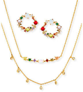 Tai Cubic Zirconia Rainbow Earrings & Necklace Set
