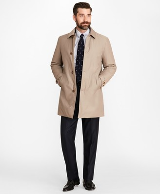 Brooks Brothers Water-Repellent Cotton-Blend Twill Car Coat