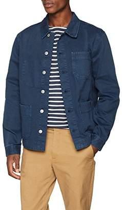 New Look Men's 5668492 Denim Jacket Mid Blue 40, ((Size:50)