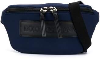 Dolce & Gabbana logo zipped pouch