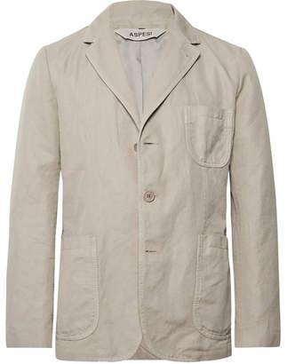 Aspesi Stone Slim-Fit Unstructured Linen Blazer